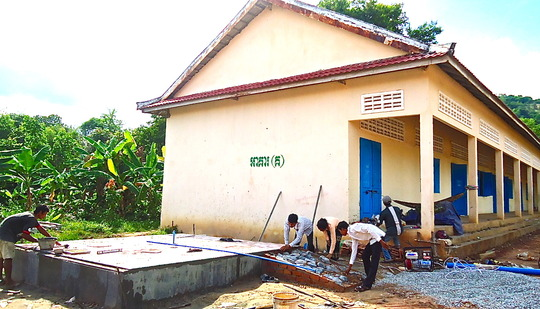 Site Preparation By School and Local Community