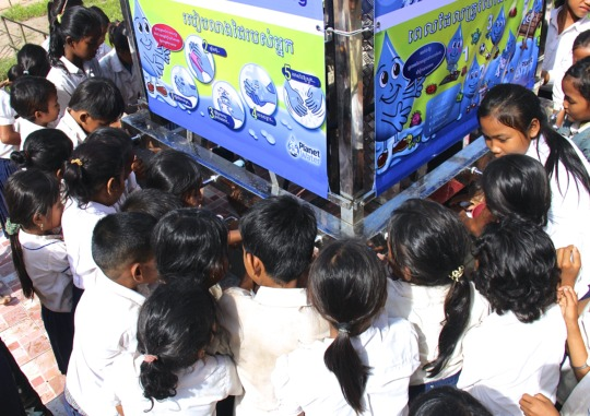 Children accessing clean water