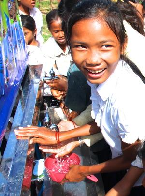 Children accessing clean water