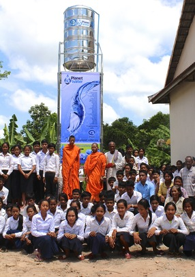 AquaTower blessing given by Monks and community