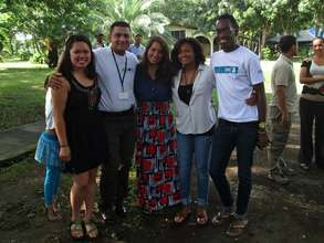 Interns summer 2013 with health promoter Ismael