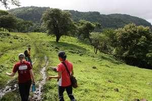Interns Hiking Between Communities