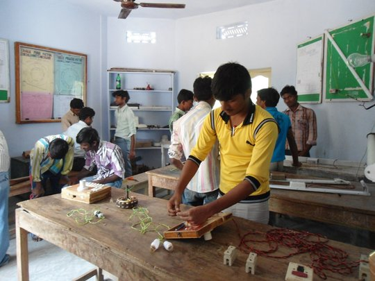 Trainees in Electrical class room