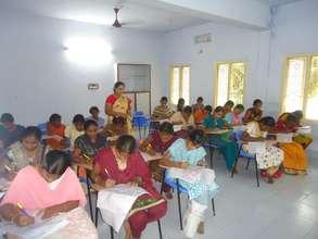 Trainees in exam room