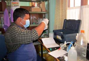 Mr. Bipin - Testing Water Sample from Schools