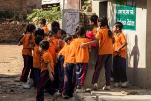 Students @ using Sanitation Corner