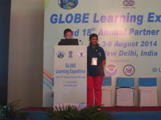 Kalsang and Sanju during their presentation.