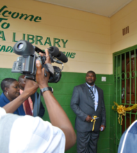 Ceremonial library opening in Chilanga