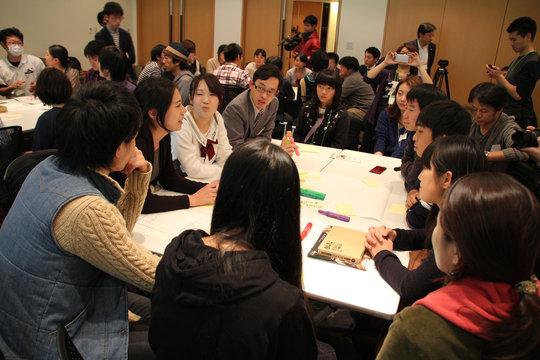Brainstorming with everyone to make Fukushima cool