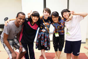 Cultural interchange was a theme of the camp