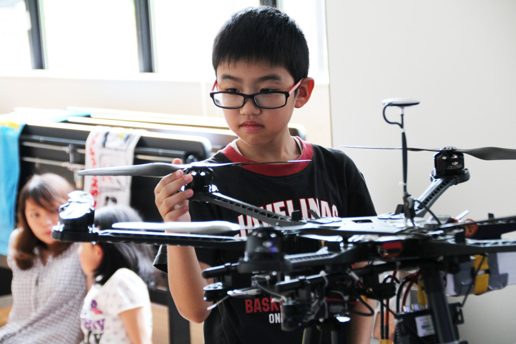 One of Our Past Experiences with Drones and Robots