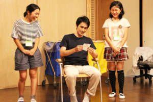 Improvising a play with a professional actor