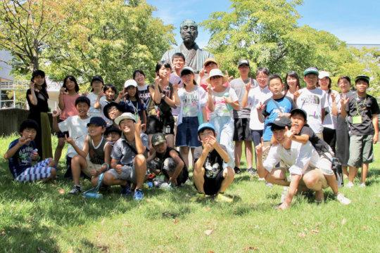 Group photo at SFC, Keio University
