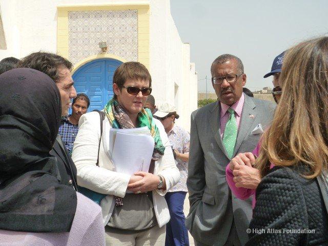 Lynn Sheppard with the Ambassador