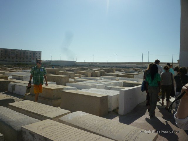 Students in Jewish Cemetery