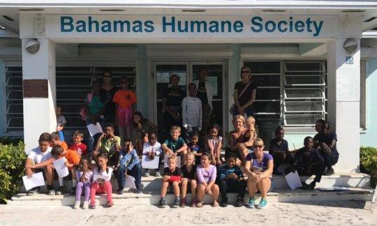 Education day at the Bahamas Humane Society
