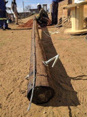 Prepping poles