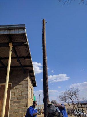 Setting up poles