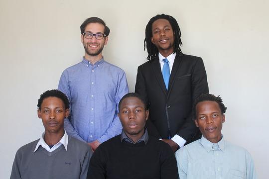 Lesotho Team:  Tamer, Marcel, Maks, Lefu, Kubutu
