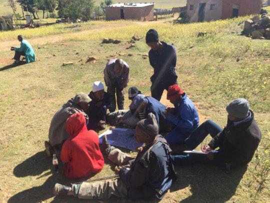 STG team at Makebe Village for site planning