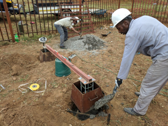 Onepower team preps PV site at Ha Makebe