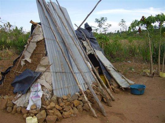 Elizabeth's home before she joined Hope Center
