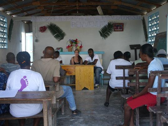 community meeting in St. Jean