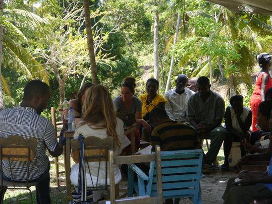community meeting in Dumon