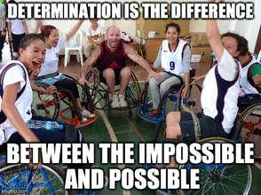 Determination and joy