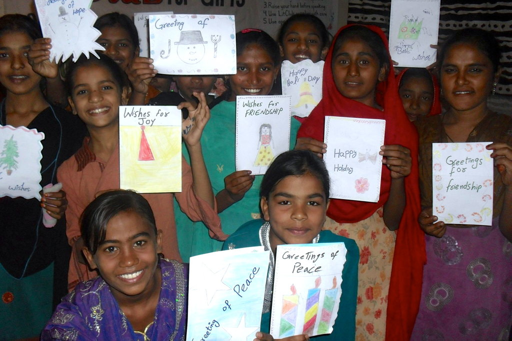 Making Cards for the Philippines in Pakistan