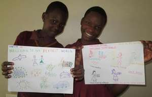 Uganda LitClub girls created their perfect world.