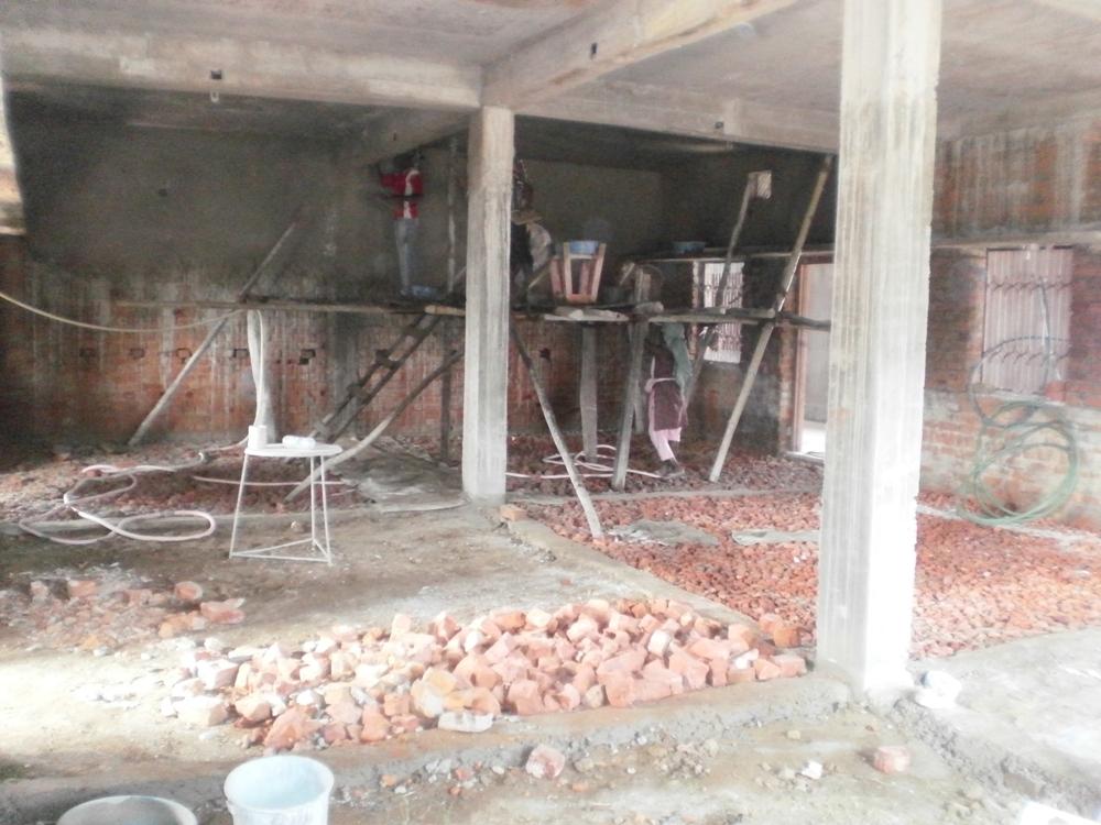 Unfinished portion of building
