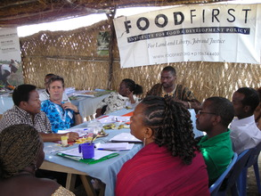 Eric and Food First with farmers in Mali