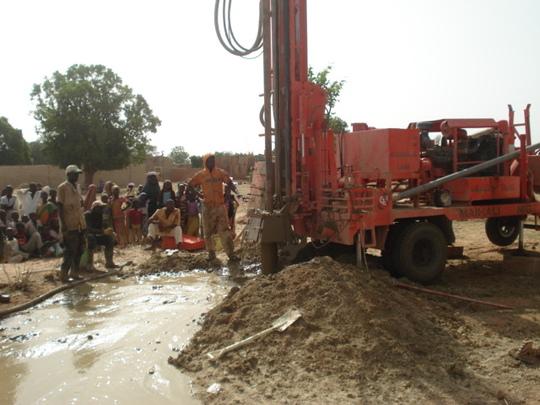 Strike of water on site