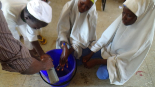 Demonstration of handwashing