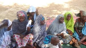 Habiba and her trainees