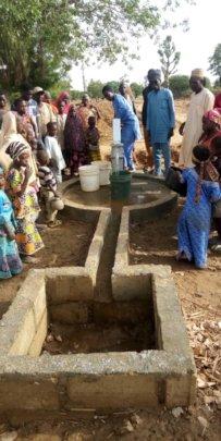 Hand pump at Amarzakaya community