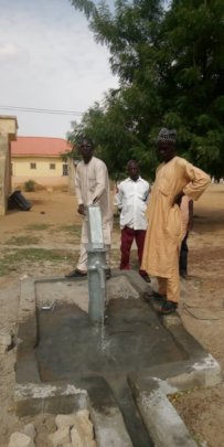 Hand pump at Tofa Primary healthcare center