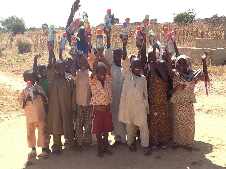 Children of Gadan saying Thank you
