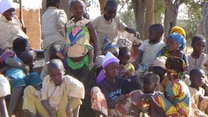 Children of Gadan happy about the pumps