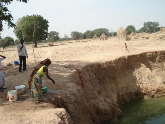 Semi built work on dam