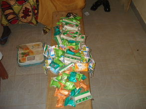 Items bought for widows, OVCs by team changemakers