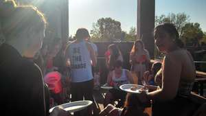 Sending off our seniors at the end-of-the-year BBQ