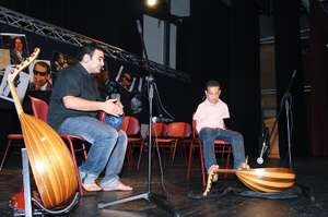 Mohammad Hasan plays the oud with his feet.