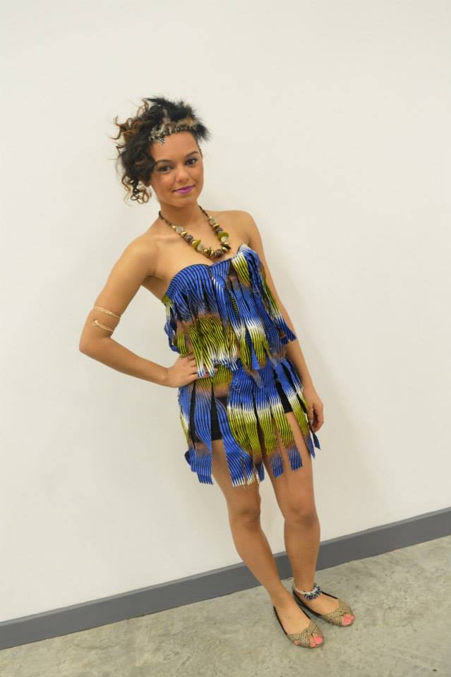 One of the beautiful models at the fashion show