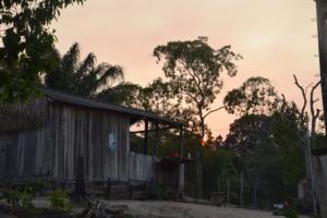 Night falls on the Munduruku village.