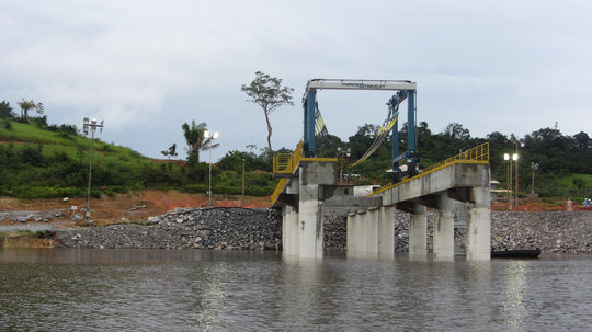 Construction proceeds on the Belo Monte dam.