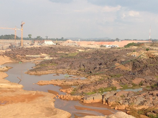 Construction moves forward on the Belo Monte dam.