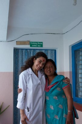MMW practitioner and patient at Bhotechaur clinic