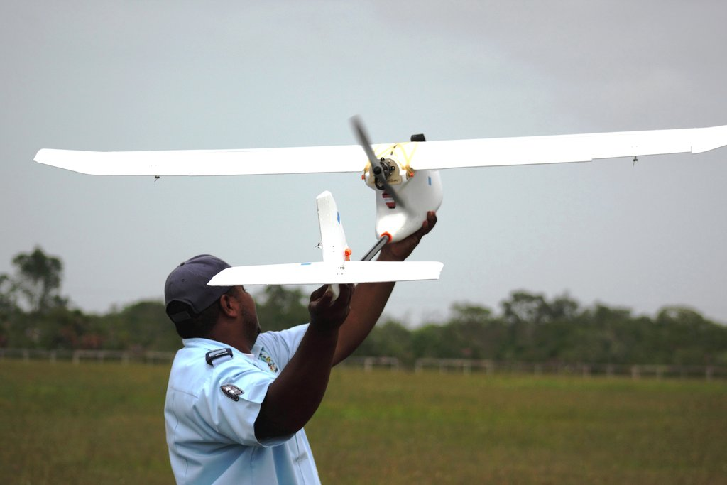 Deploying a conservation drone